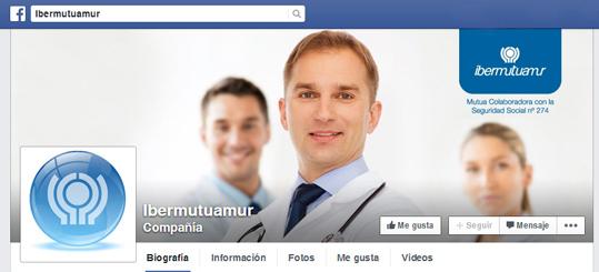 Ibermutuamur acaba de estrenar su cuenta en la red social Facebook