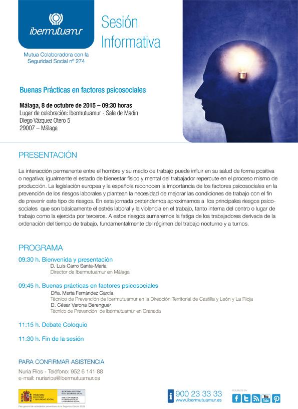 Ibermutuamur organiza una sesión informativa en Málaga sobre Buenas Prácticas en factores psicosociales