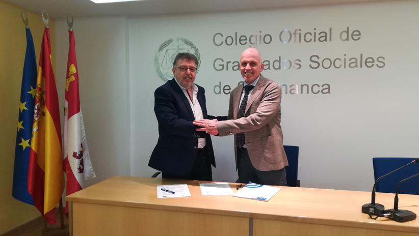 Acuerdo de colaboración entre Ibermutuamur y el Colegio Oficial de Graduados Sociales de Salamanca