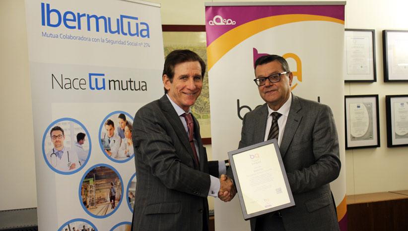 Ibermutua recibe el Sello Bequal Plus, que certifica su política de inclusión de la discapacidad