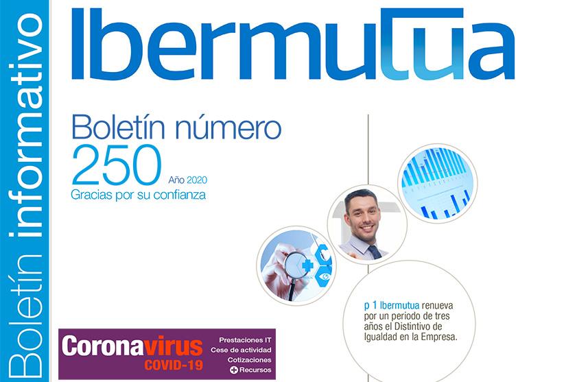portada boletín informativo de Ibermutua nº 250