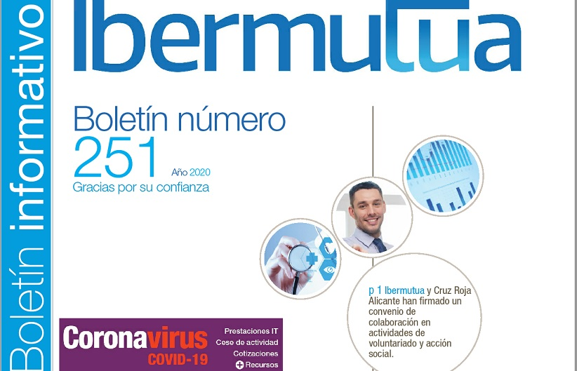 Portada Boletín informativo de Ibermutua